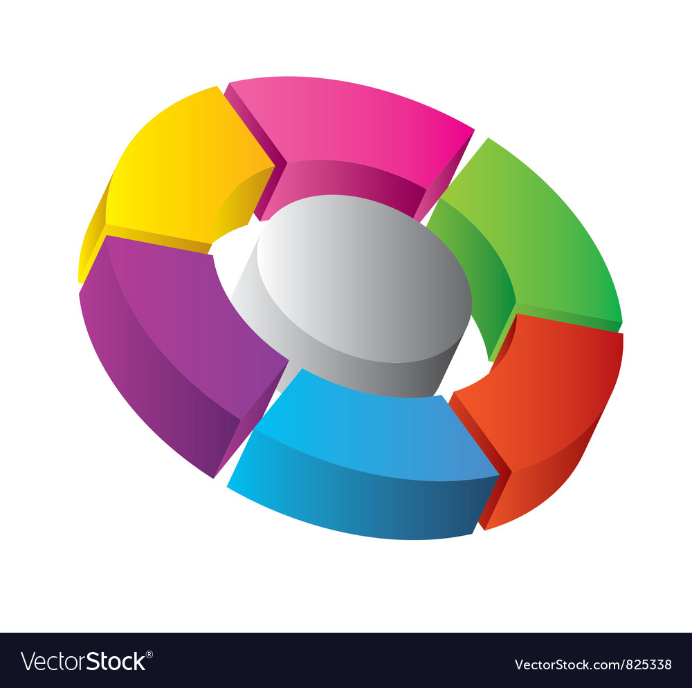 3d diagram vector | Price: 1 Credit (USD $1)