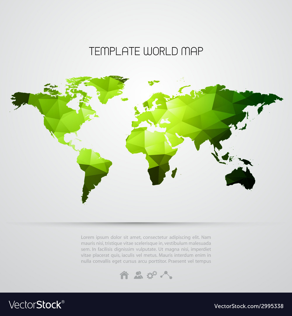 Abstract background with world map vector | Price: 1 Credit (USD $1)