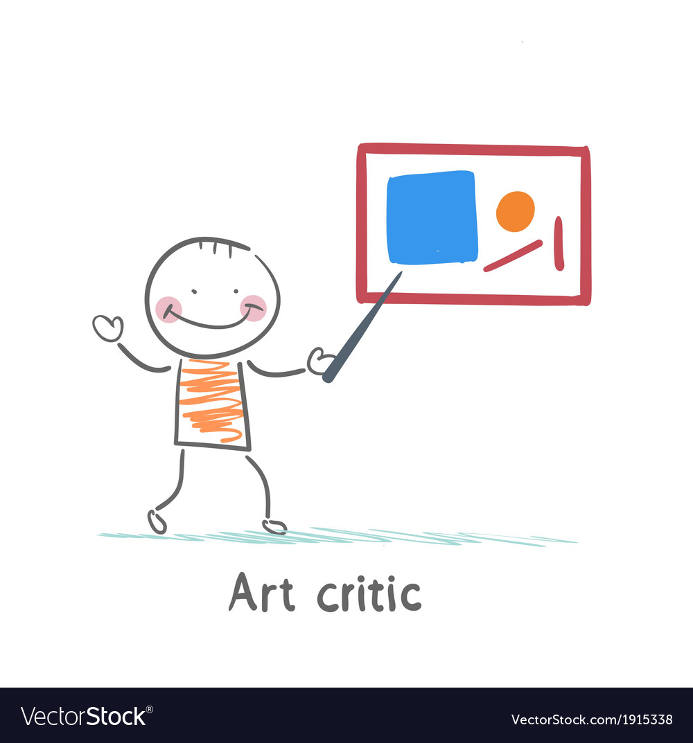 Art critic tells about the picture vector | Price: 1 Credit (USD $1)