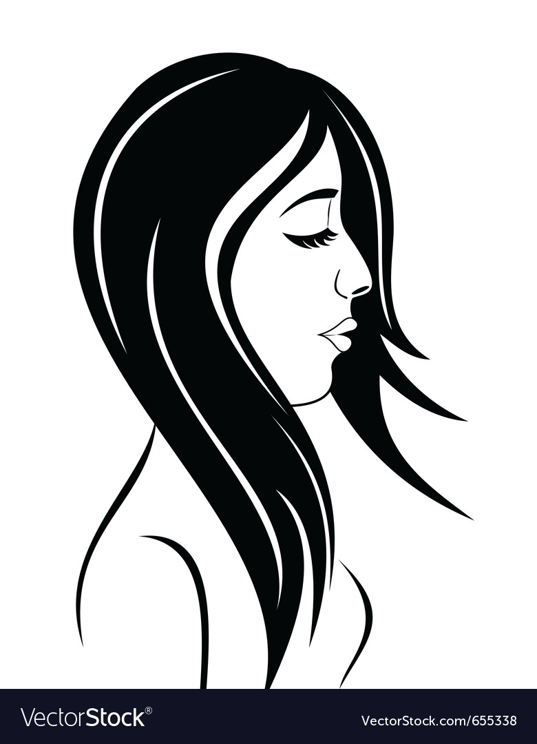 Beauty face girl portrait - vector | Price: 1 Credit (USD $1)