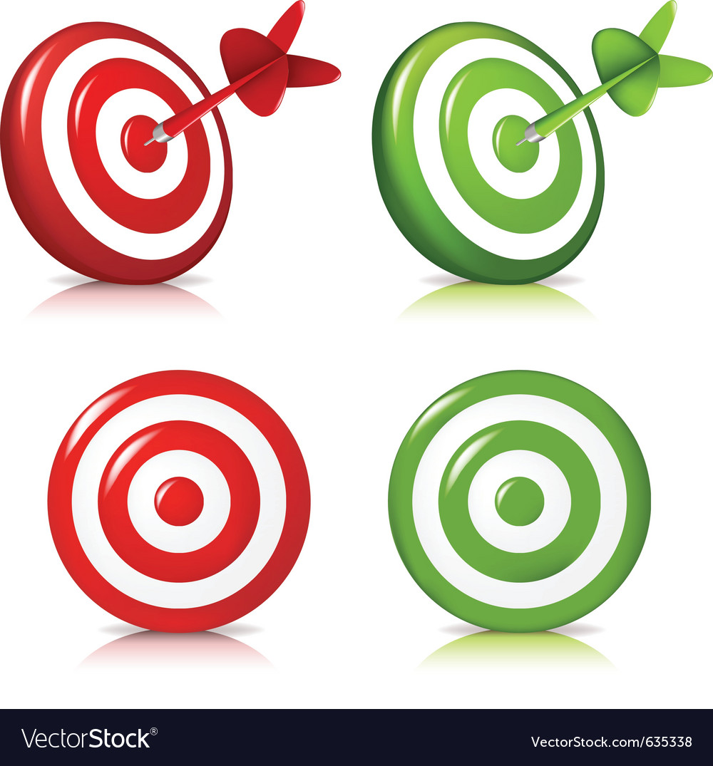 Darts hitting a target vector | Price: 1 Credit (USD $1)