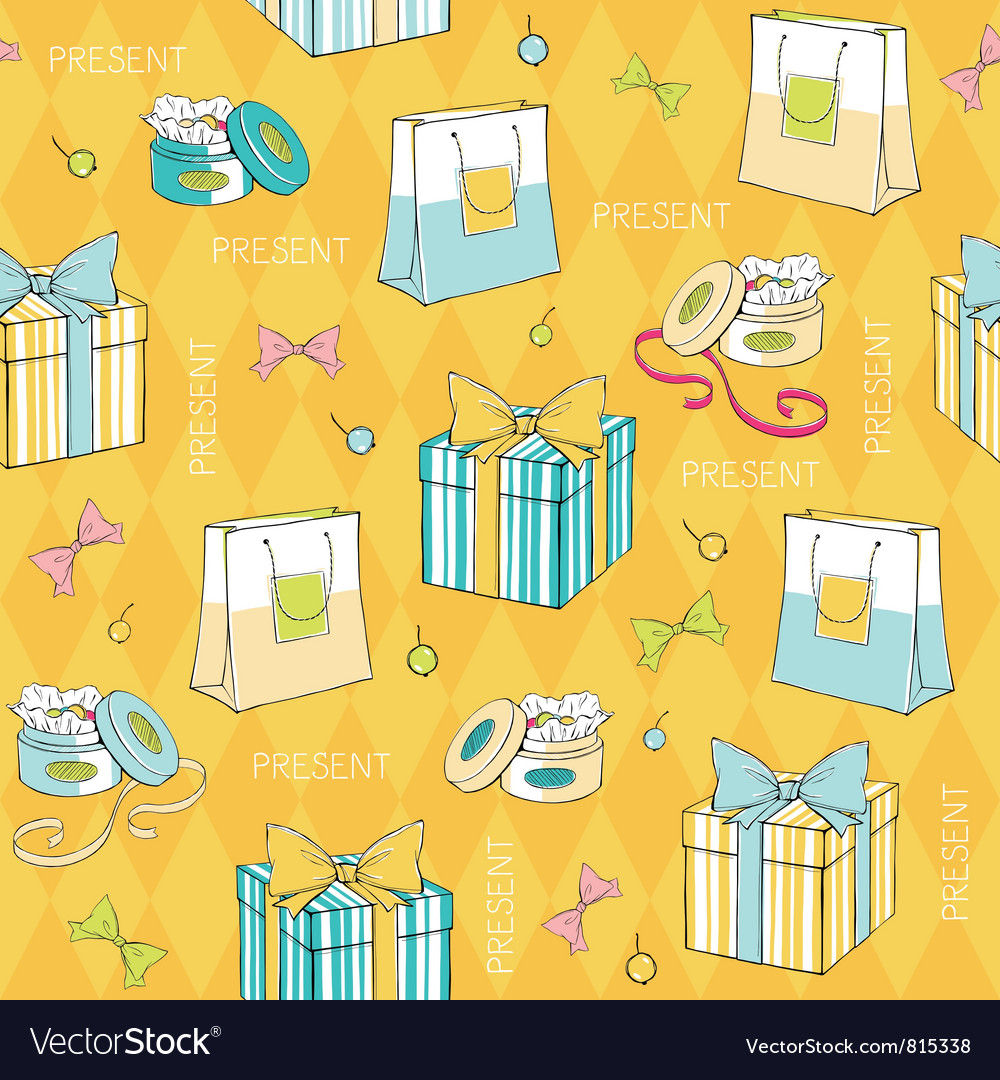 Gift boxes pattern vector | Price: 1 Credit (USD $1)