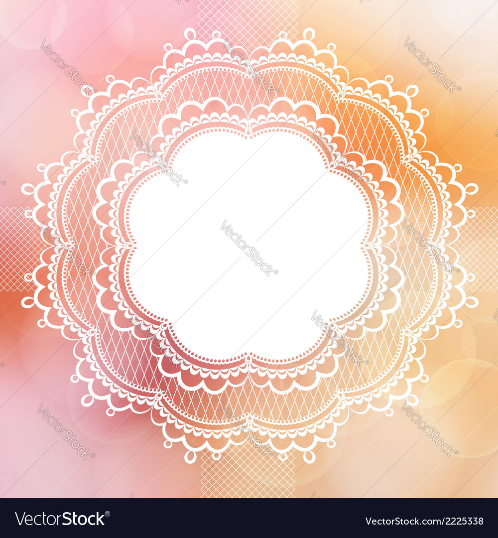 Pink vintage lace border vector | Price: 1 Credit (USD $1)