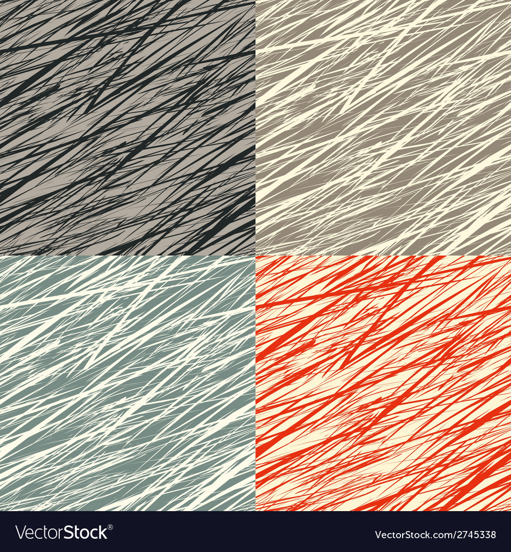 Set of seamless patterns with grunge texture vector | Price: 1 Credit (USD $1)