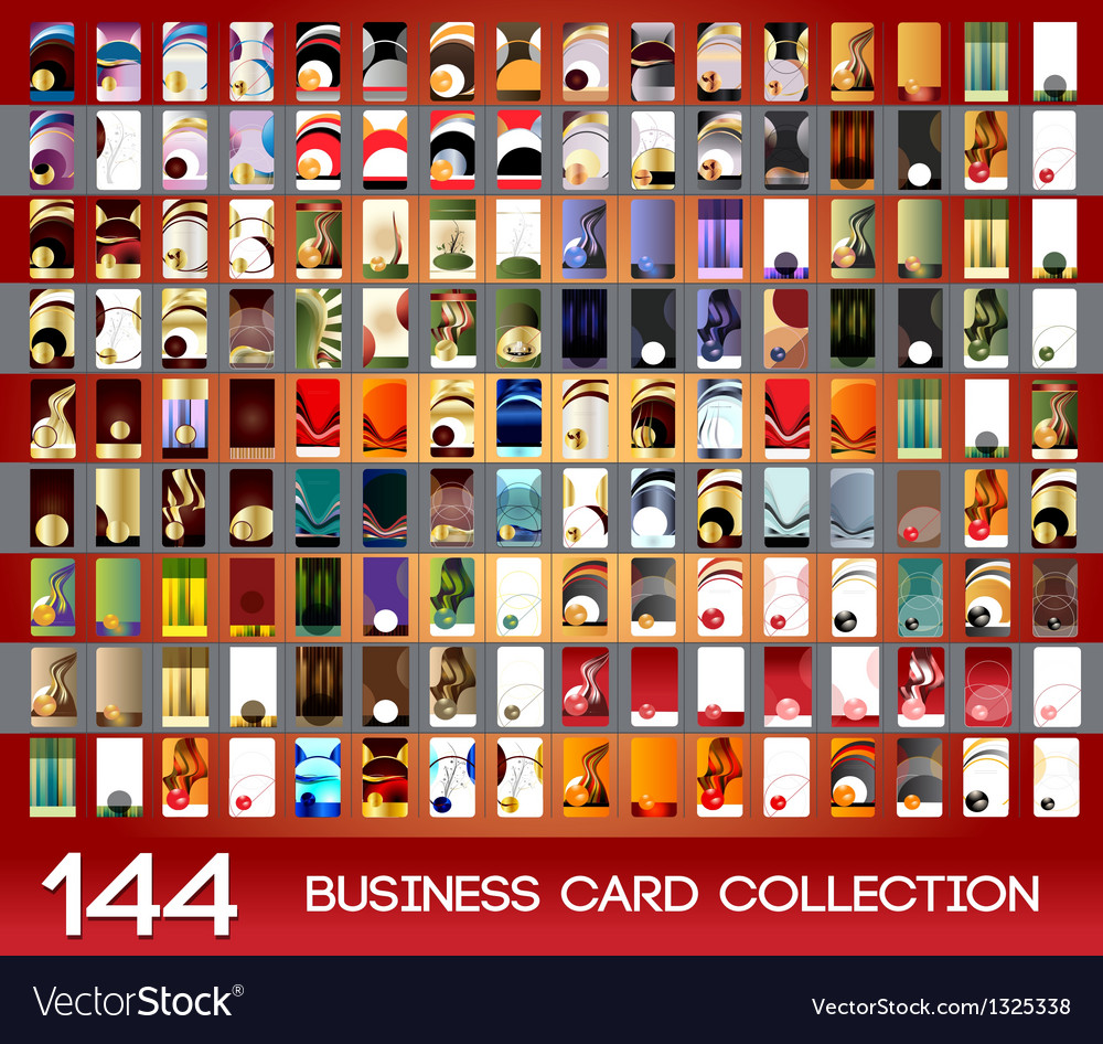 Vertical business cards collection vector | Price: 3 Credit (USD $3)