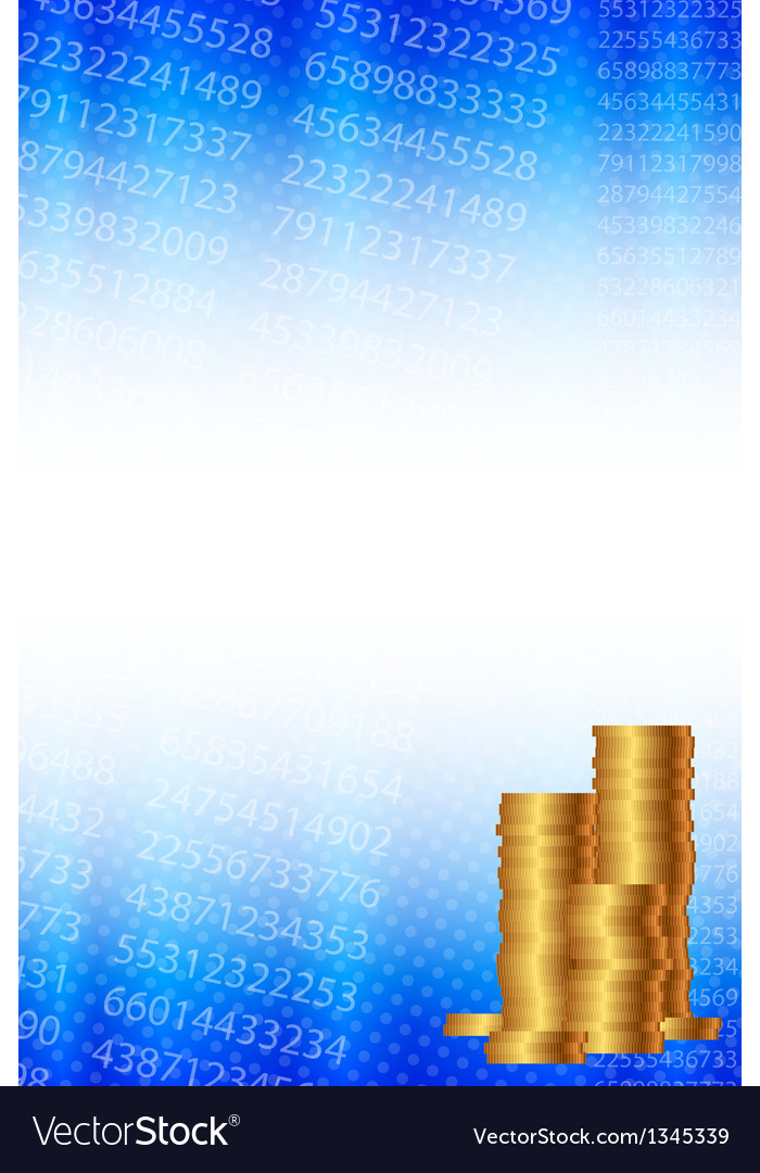 Background with statistical data and gold coins vector | Price: 1 Credit (USD $1)