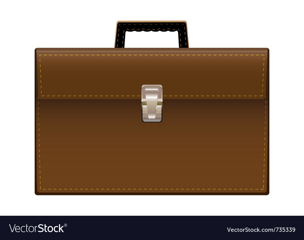 Brown leather briefcase vector | Price: 1 Credit (USD $1)