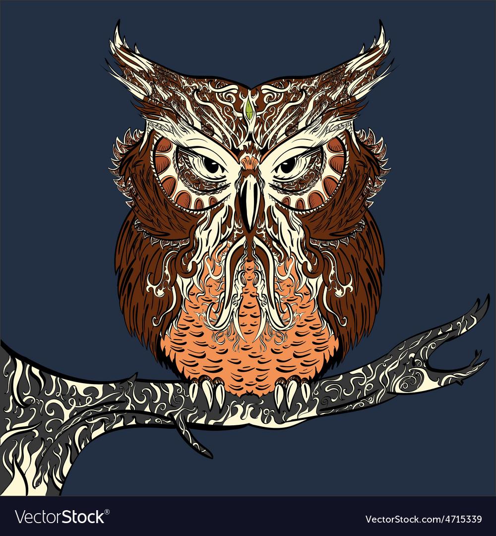 Brown owl vector   Price: 1 Credit (USD $1)