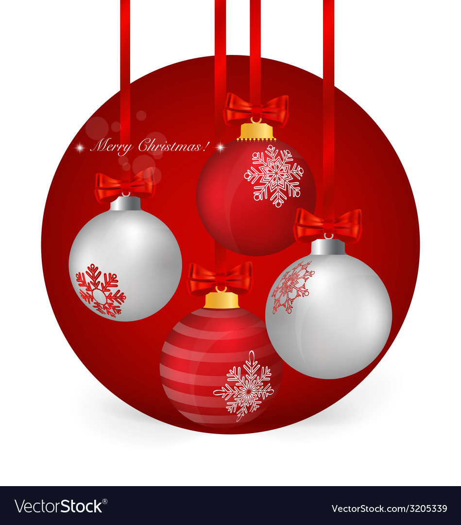 Christmas background with christmas ball vector   Price: 1 Credit (USD $1)