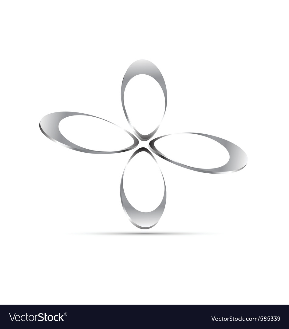 Chrome floral icon vector   Price: 1 Credit (USD $1)