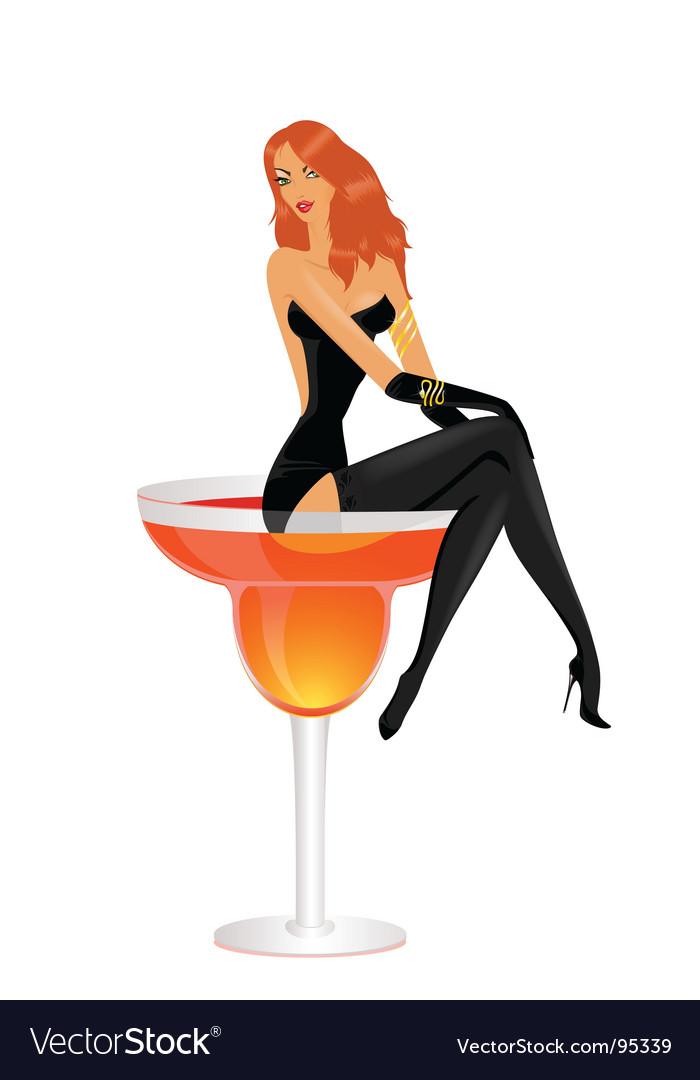 Cocktail diva vector | Price: 3 Credit (USD $3)