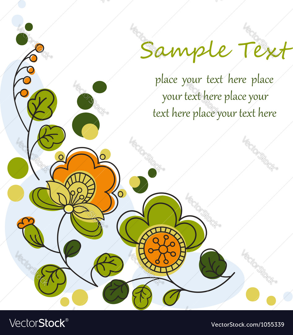 Floral graphic background vector | Price:  Credit (USD $)
