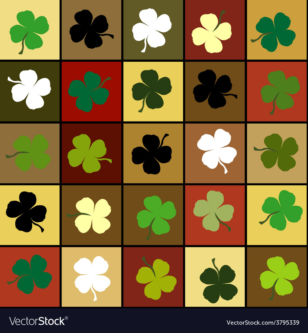 Shamrock squares background vector | Price: 1 Credit (USD $1)