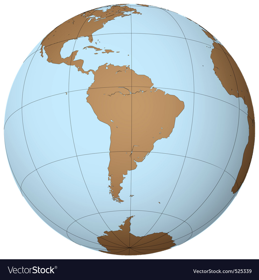 South america vector | Price: 1 Credit (USD $1)