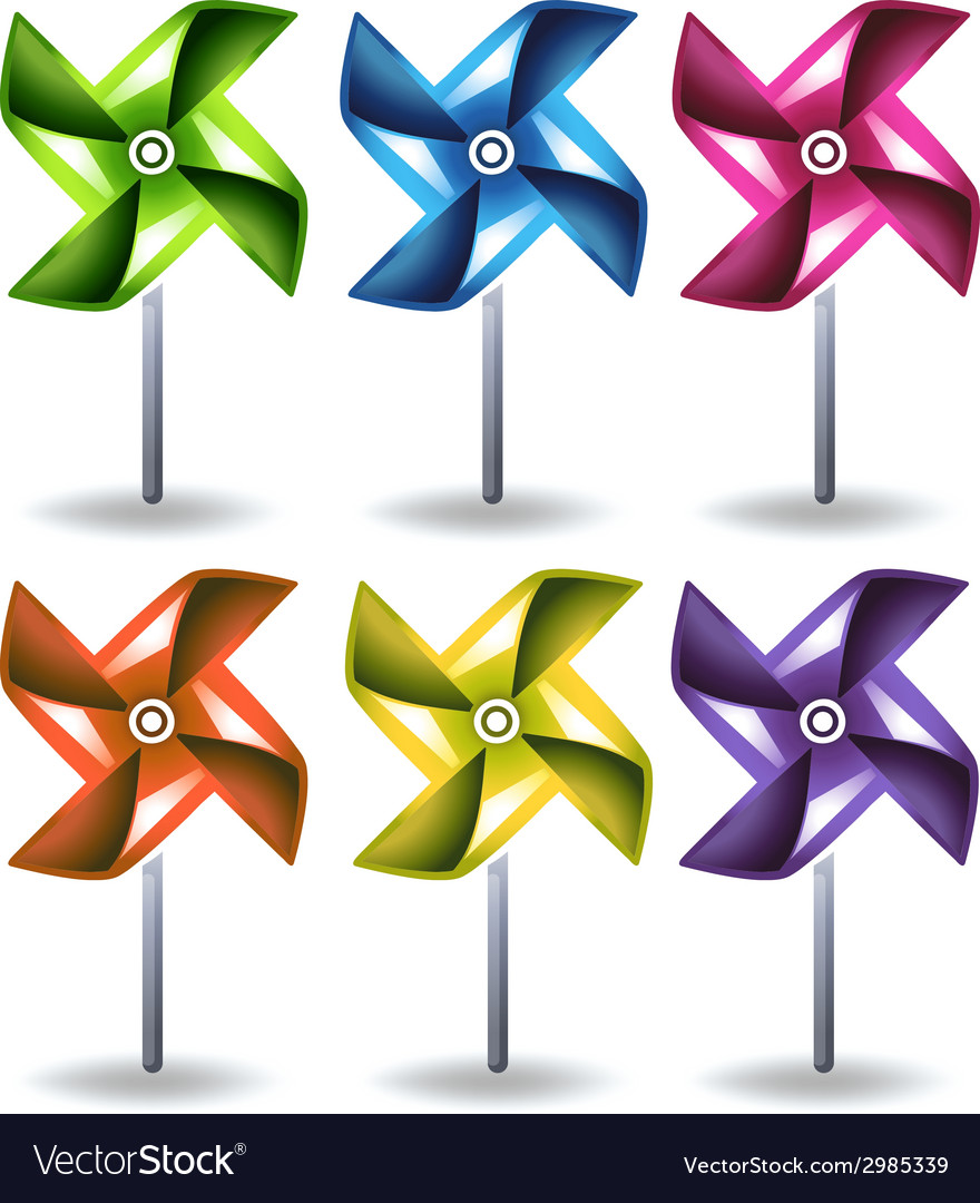 Toy windmills vector | Price: 1 Credit (USD $1)