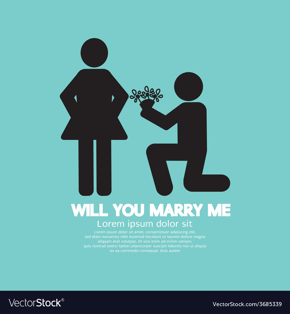 Will you marry me graphic symbol vector