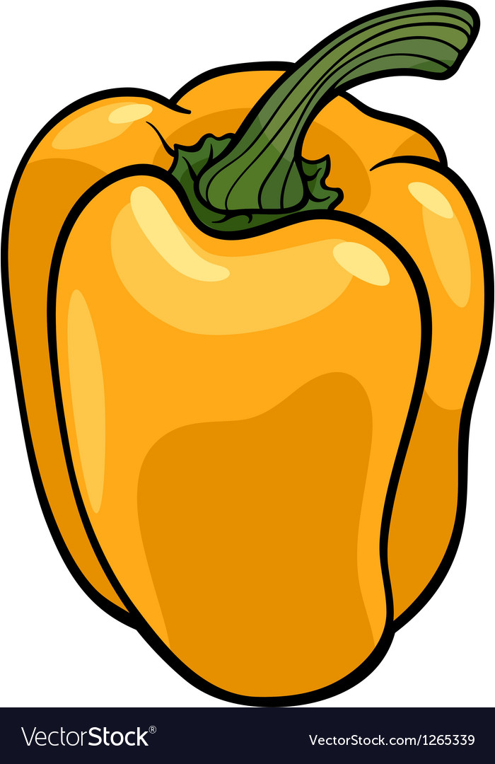 Yellow pepper vegetable cartoon vector | Price: 1 Credit (USD $1)