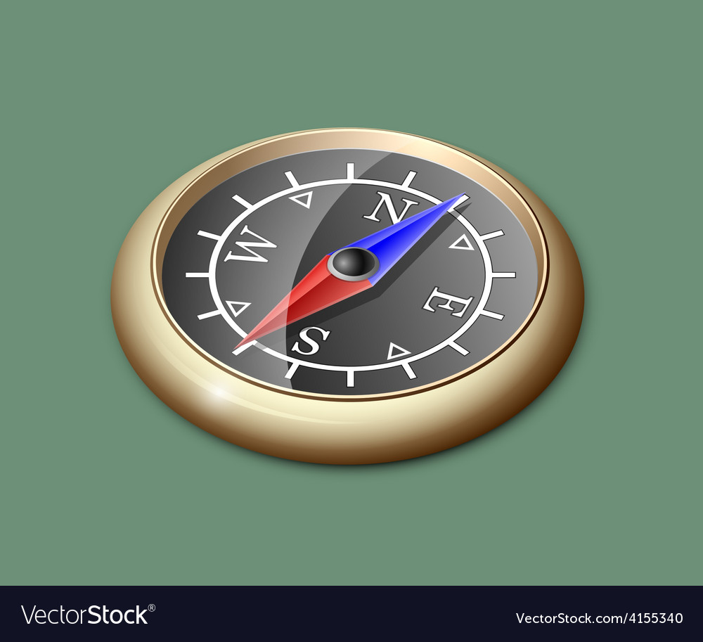 Brass compass vector | Price: 1 Credit (USD $1)