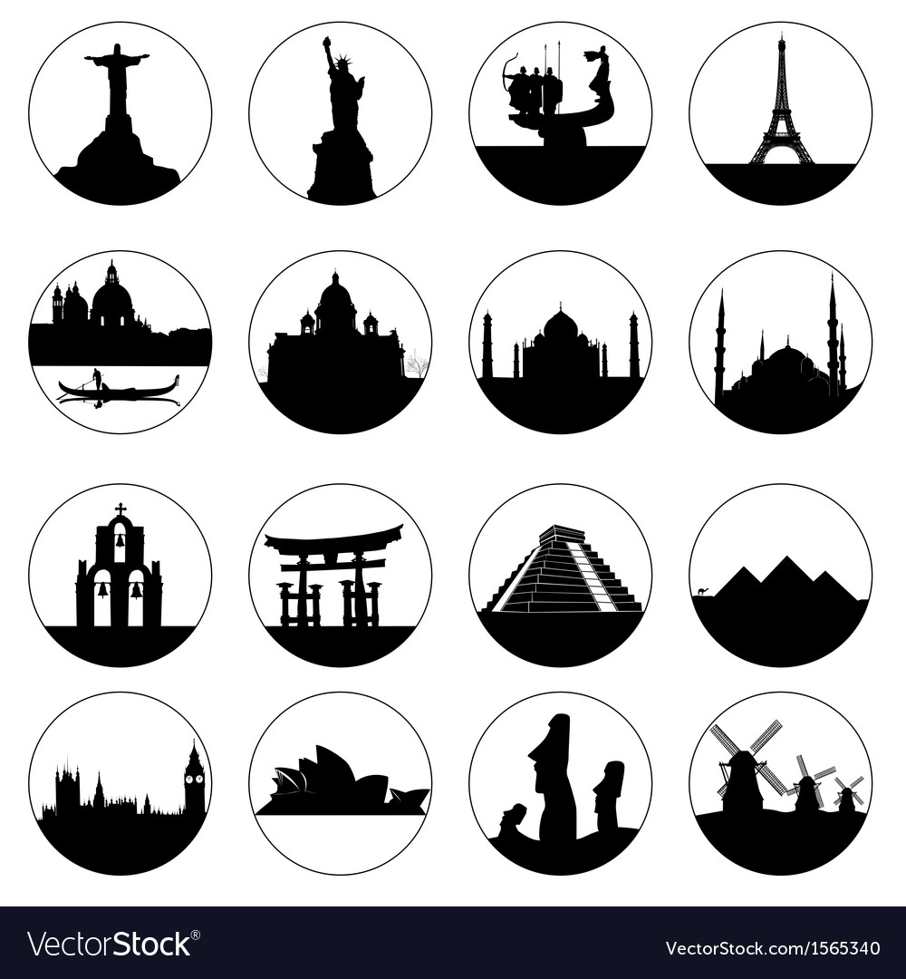 Famous places of the world vector | Price: 1 Credit (USD $1)