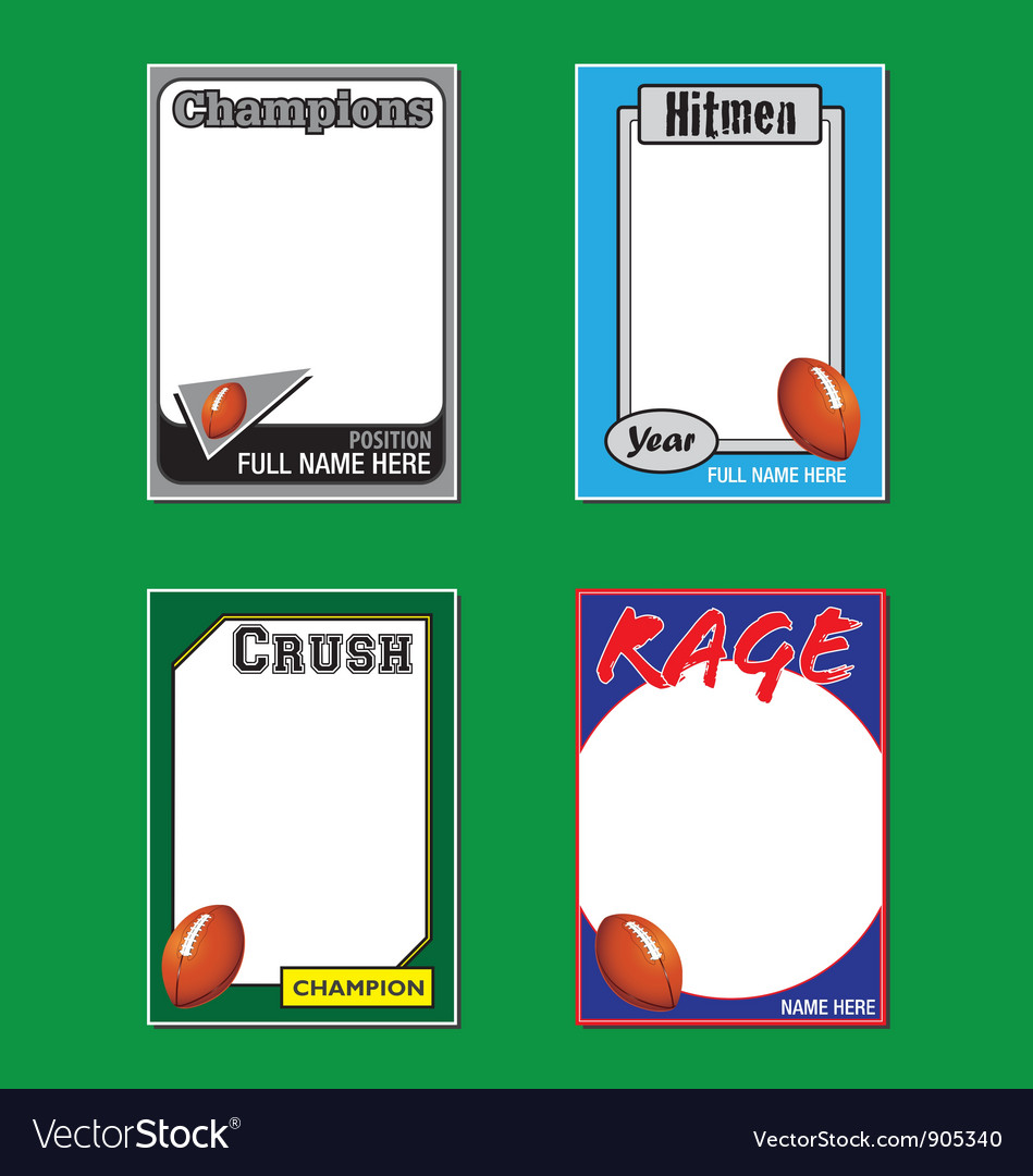 Football cards vector | Price: 1 Credit (USD $1)