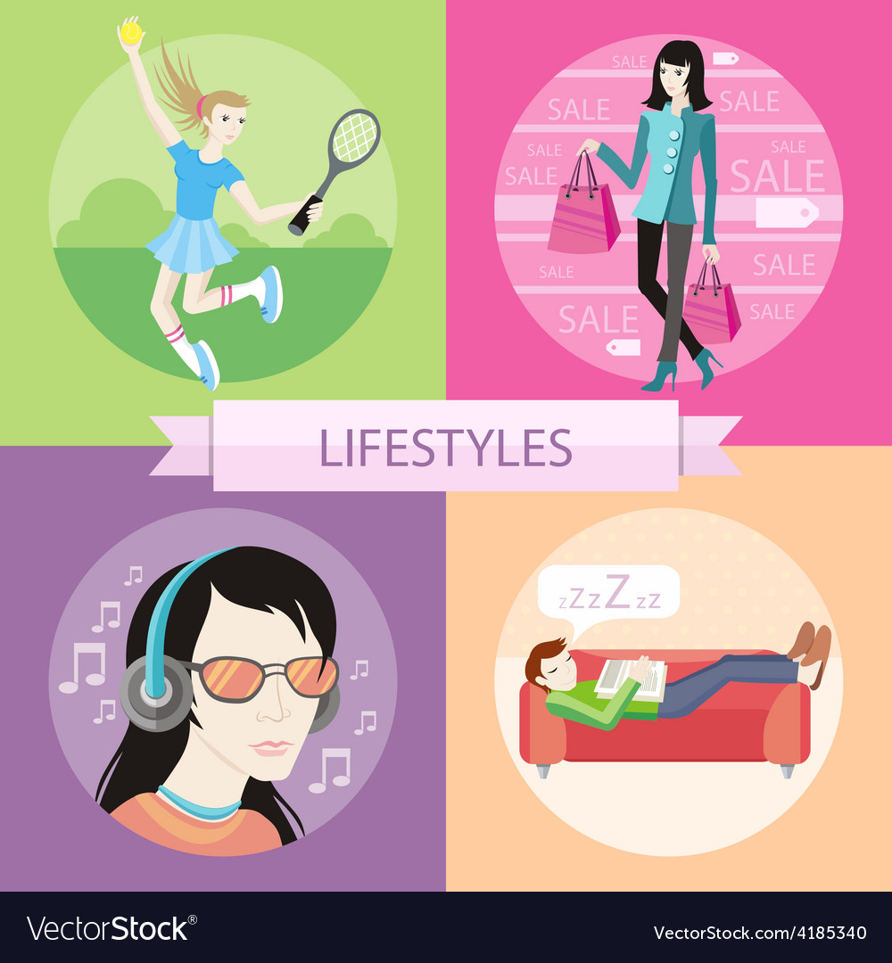 Lifestyles concepts vector