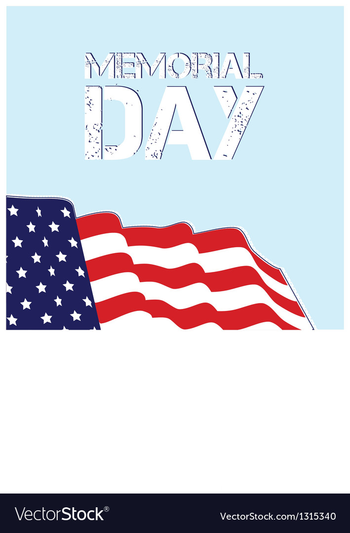 Memorial day flag design eps 10  grouped for easy vector | Price: 1 Credit (USD $1)