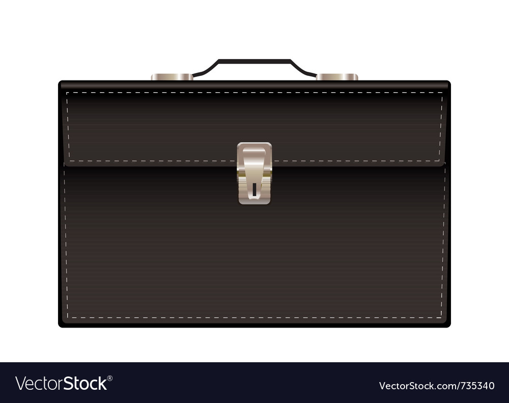 Retro black leather briefcase vector | Price: 1 Credit (USD $1)