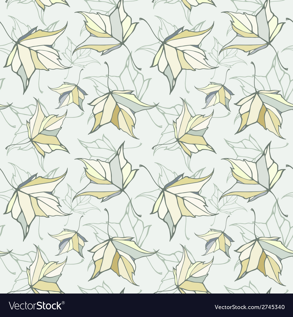 Seamless pattern with fall autumn maple leaves vector | Price: 1 Credit (USD $1)