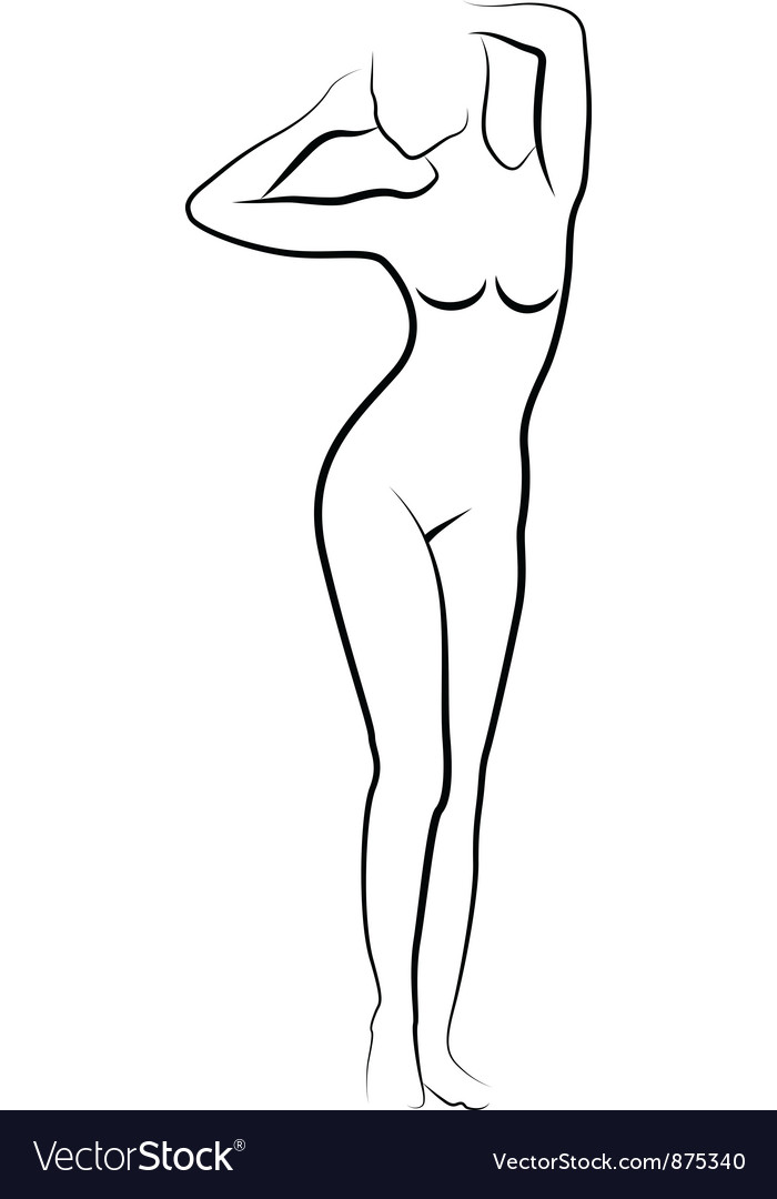 Sketch of nude woman vector | Price: 1 Credit (USD $1)