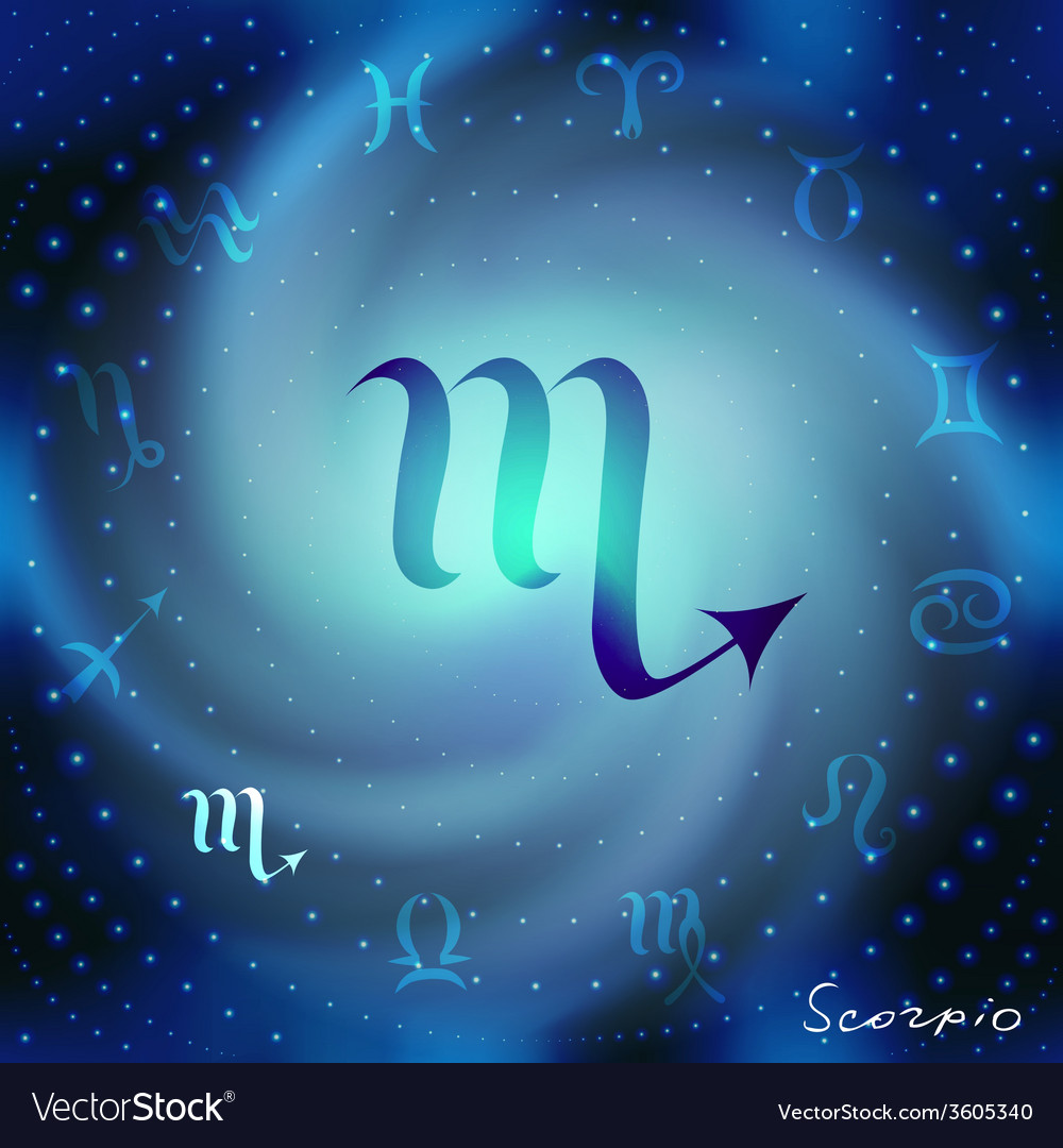 Space spiral with astrological scorpio symbol vector | Price: 1 Credit (USD $1)