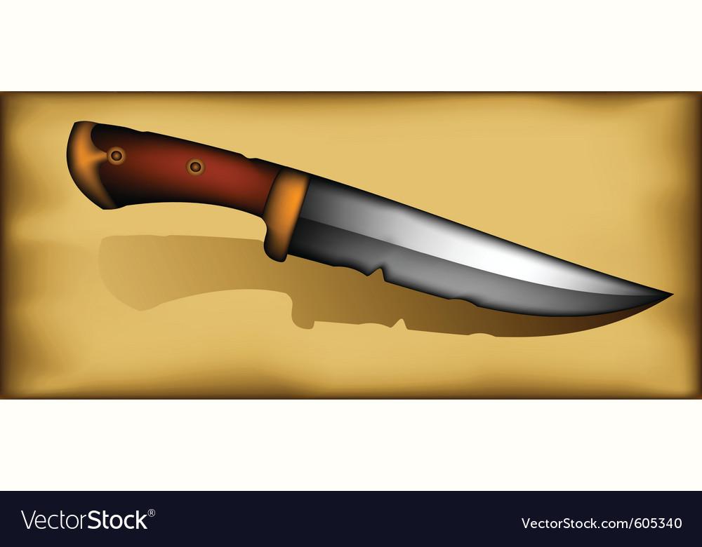 Vintage knife vector | Price: 1 Credit (USD $1)