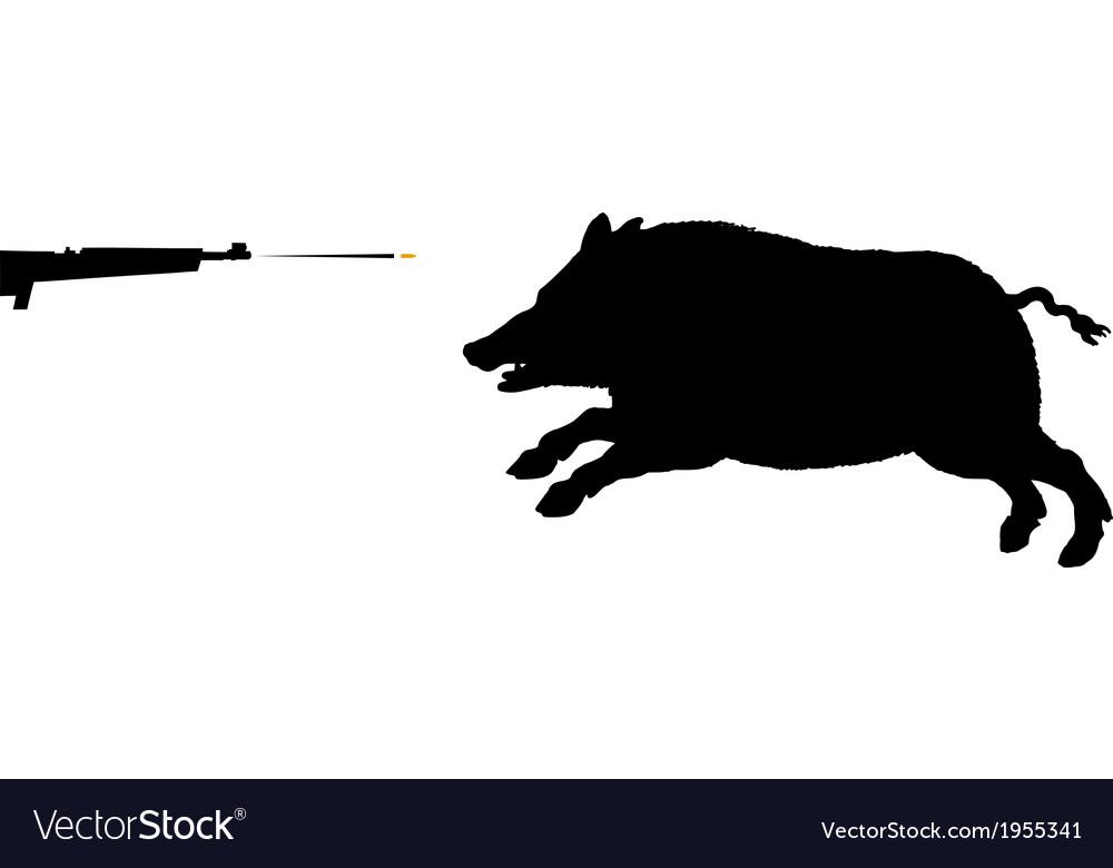 Boar hunting vector   Price: 1 Credit (USD $1)