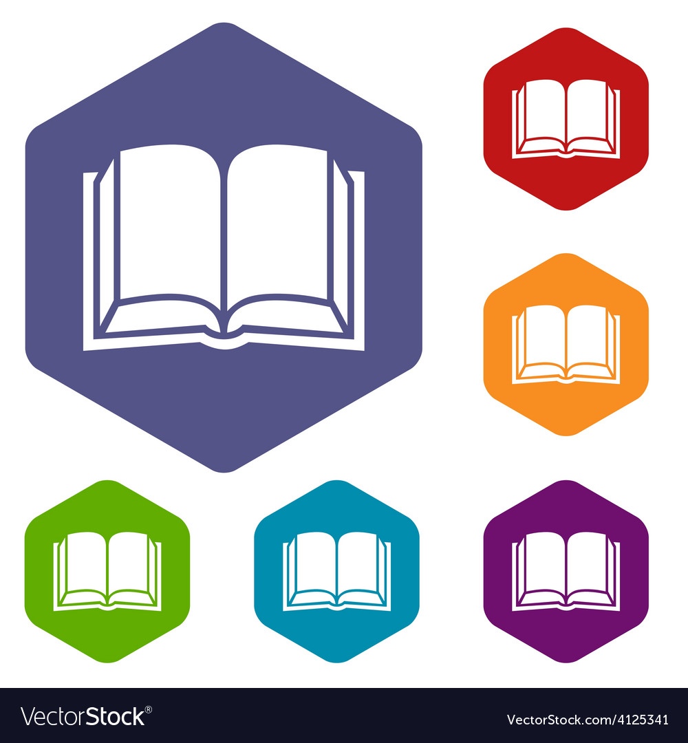 Book rhombus icons vector | Price: 1 Credit (USD $1)