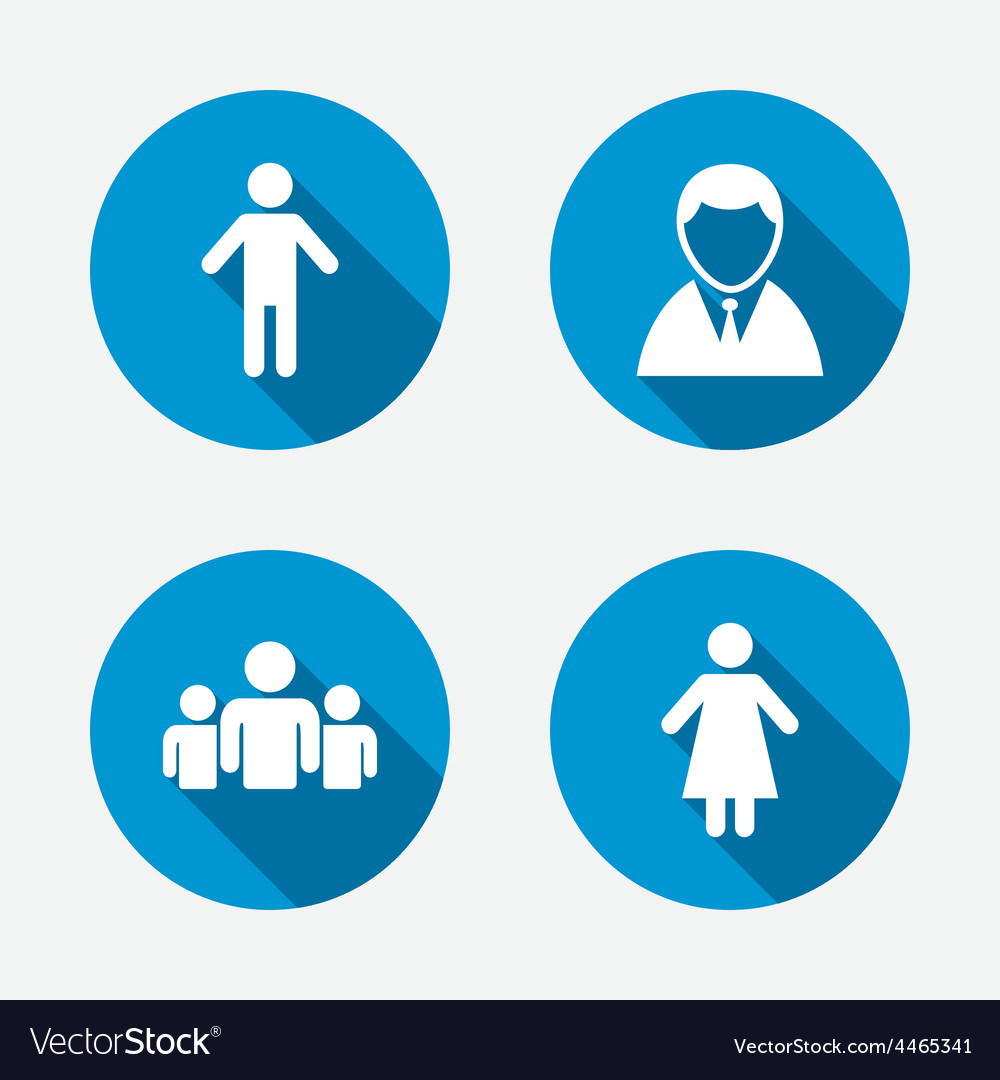Businessman person icon group of people symbol vector | Price: 1 Credit (USD $1)