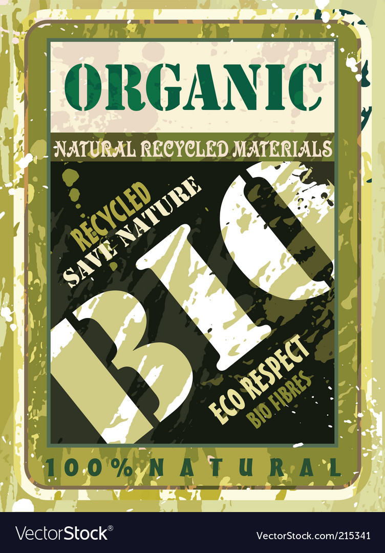 Organic bio label vector | Price: 3 Credit (USD $3)
