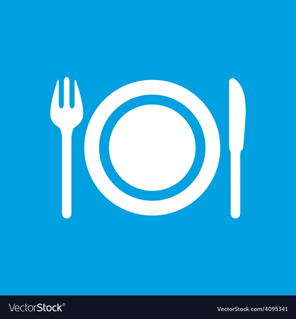 Plate white icon vector | Price: 1 Credit (USD $1)