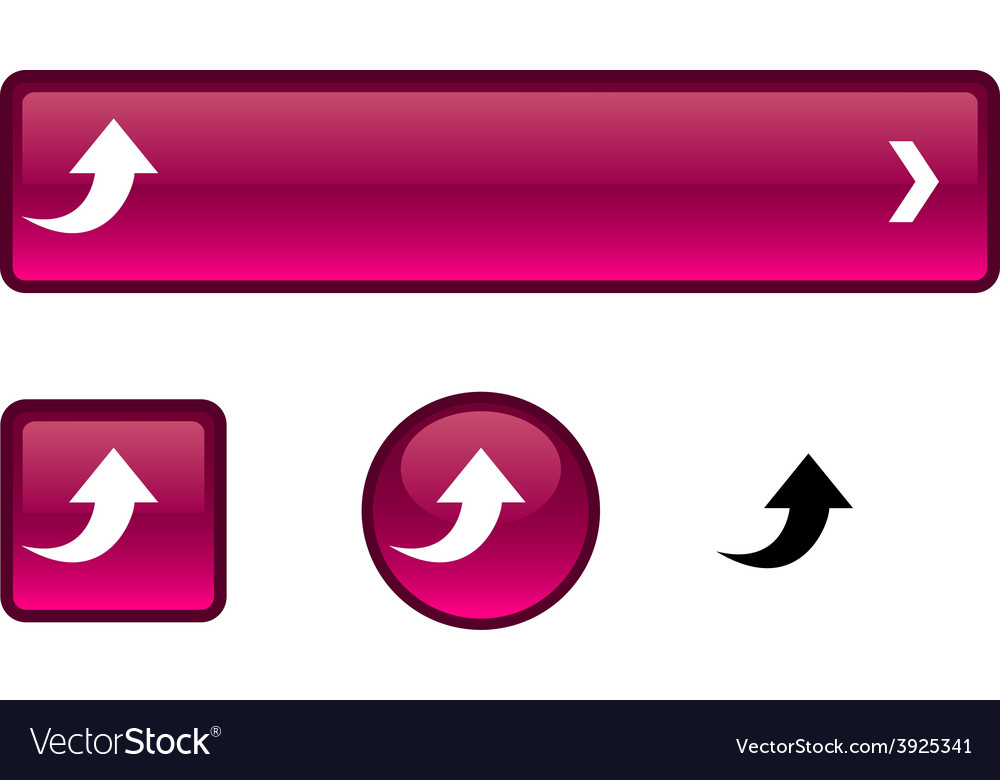 Upload button set vector | Price: 1 Credit (USD $1)