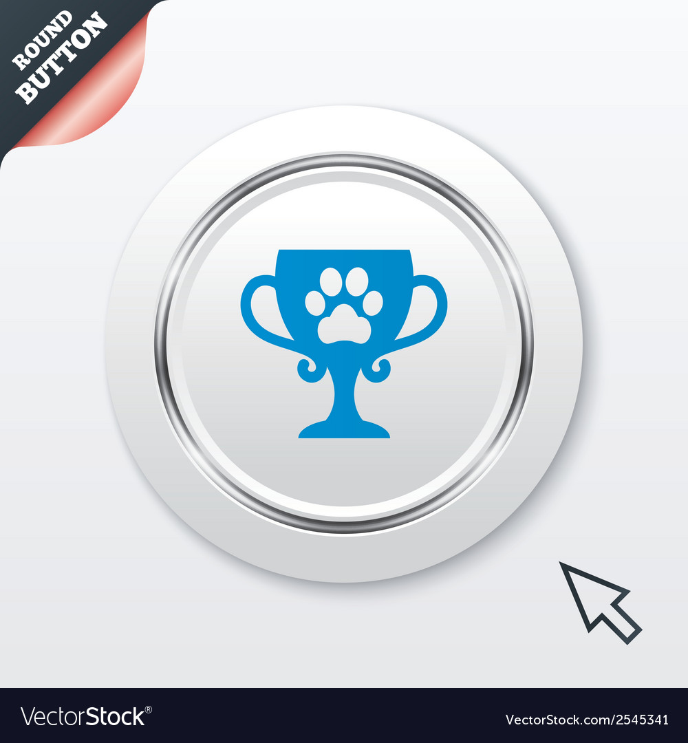 Winner pets cup sign icon trophy for pets vector | Price: 1 Credit (USD $1)