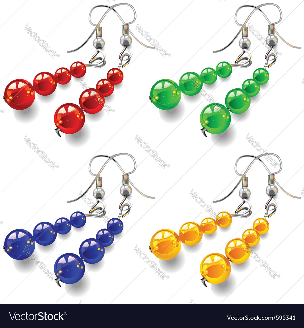 Womens jewelry earrings vector | Price: 1 Credit (USD $1)