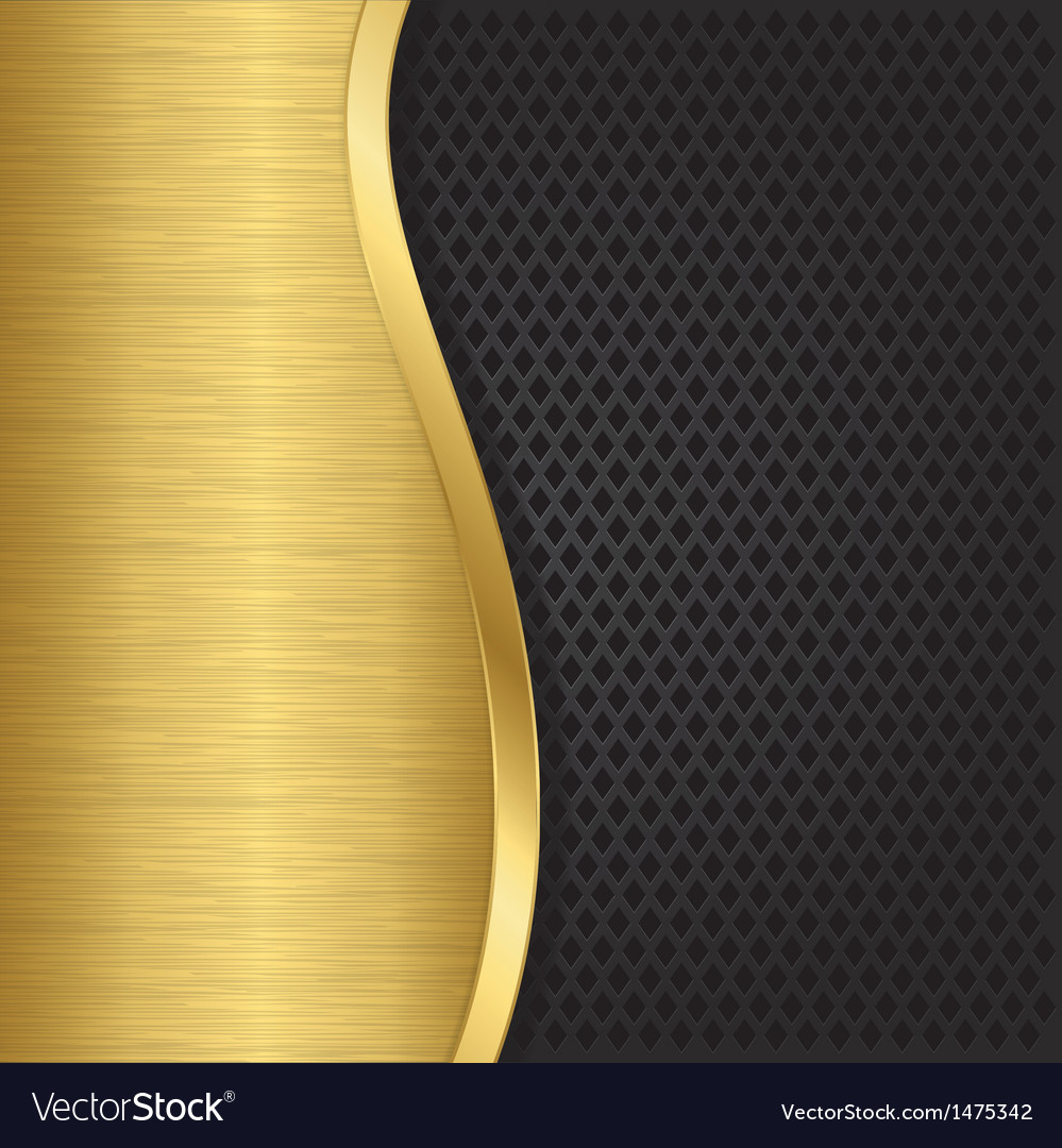 Abstract golden background with metallic grill vector | Price: 1 Credit (USD $1)