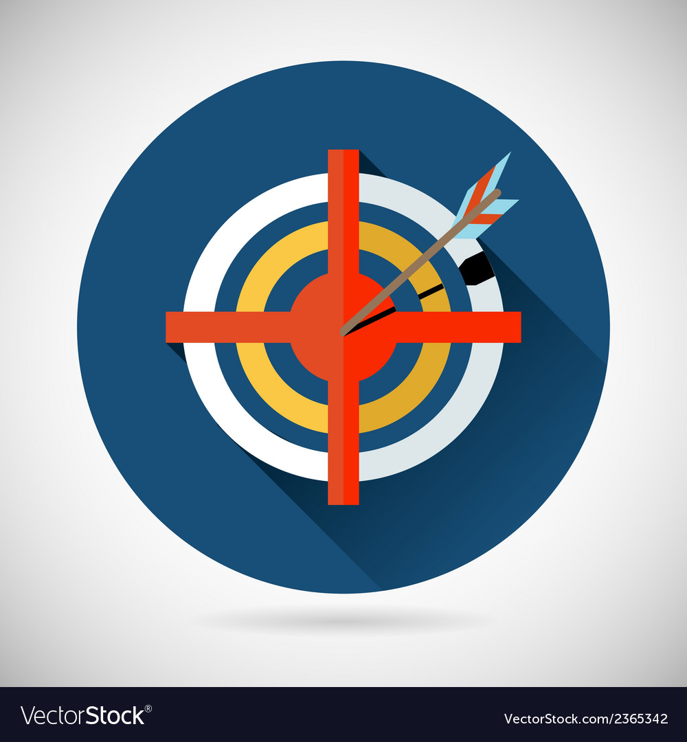 Achieving goal symbol arrow hit the target icon on vector | Price: 1 Credit (USD $1)