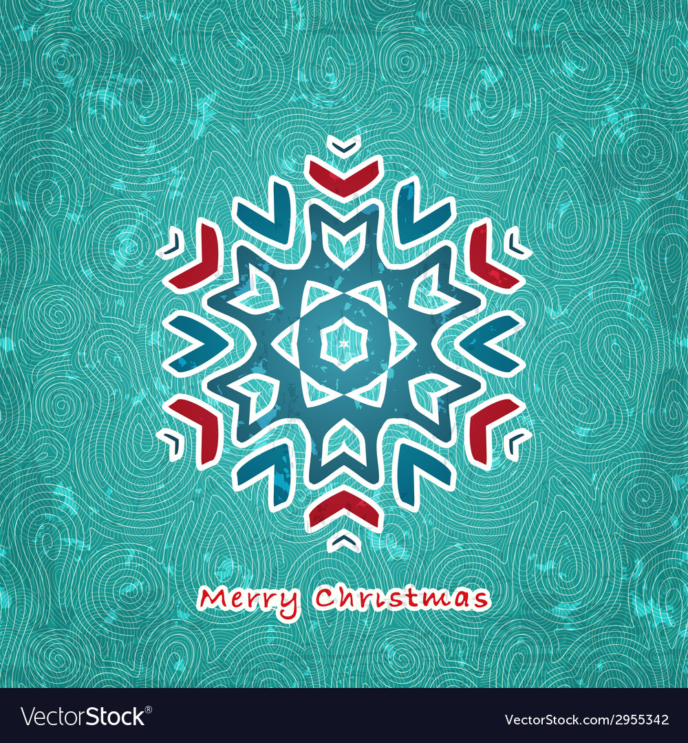 Christmas flake vector | Price: 1 Credit (USD $1)