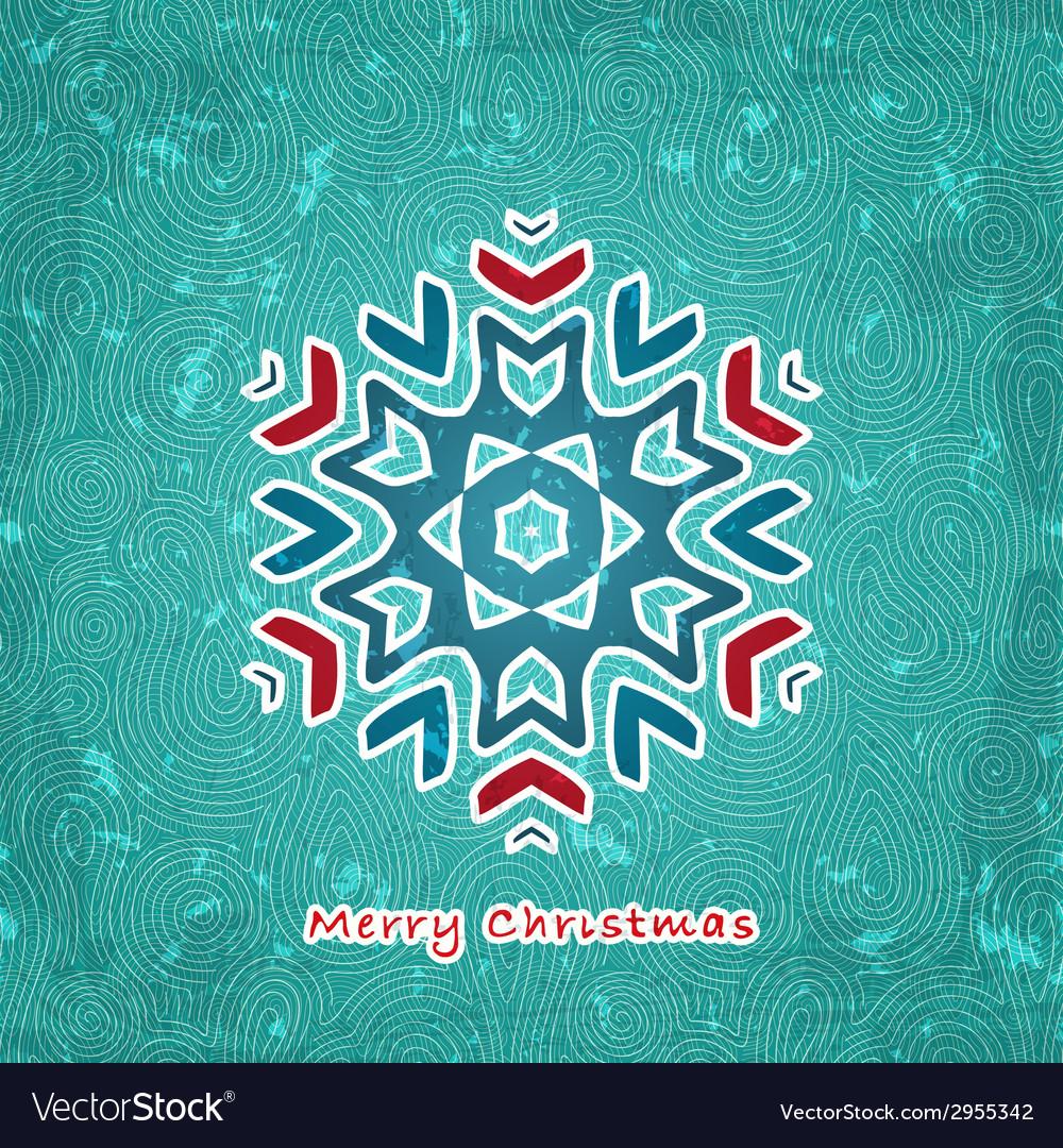 Christmas flake vector | Price: 1 Credit (USD $1)