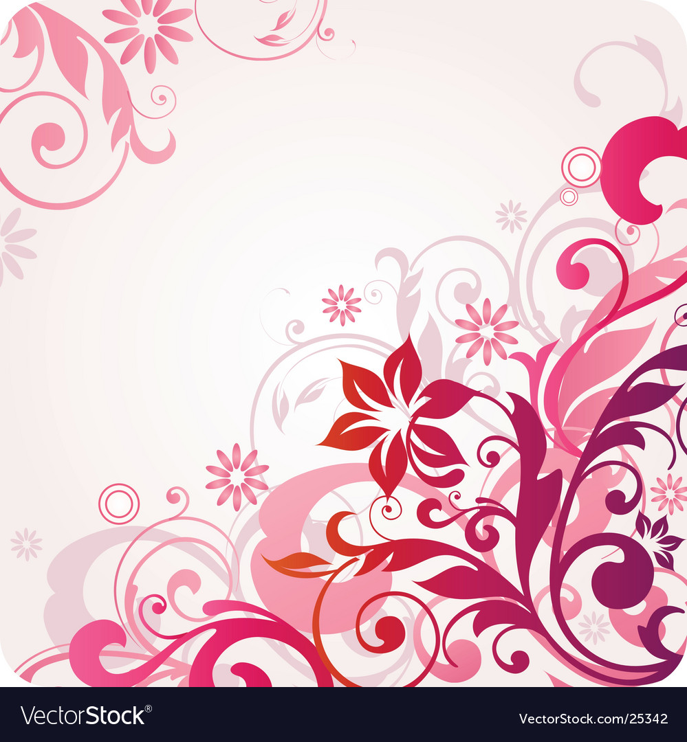 Floral design graphic vector | Price: 1 Credit (USD $1)
