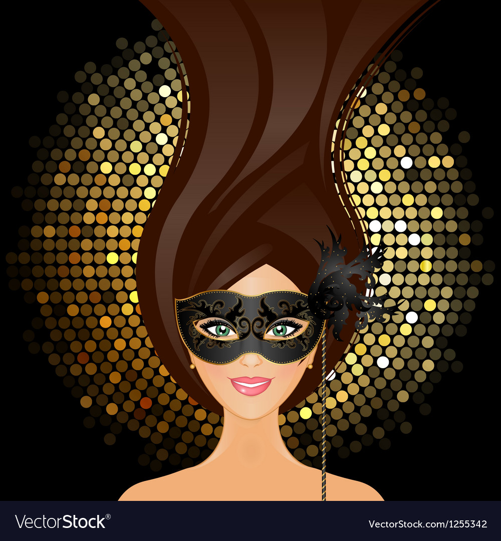 Girl with mask vector | Price: 3 Credit (USD $3)