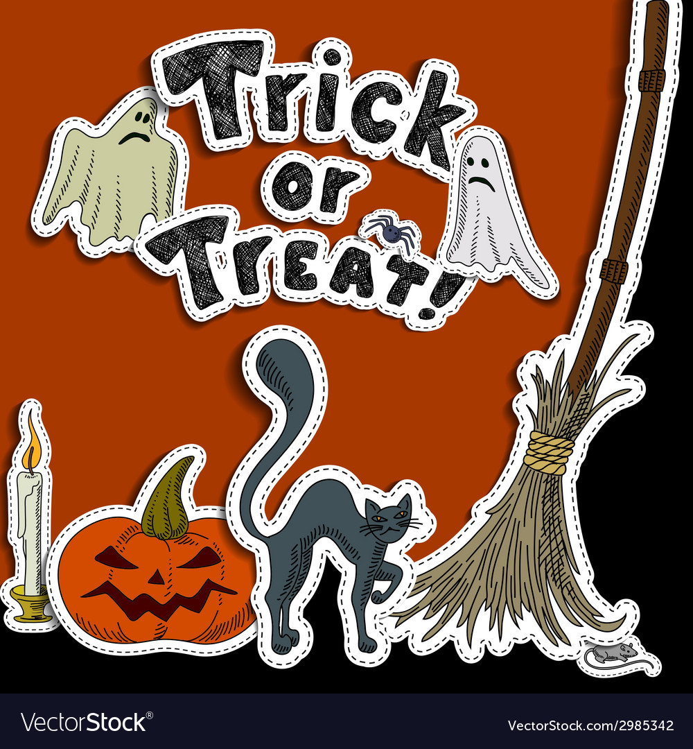 Halloween party design vector | Price: 1 Credit (USD $1)