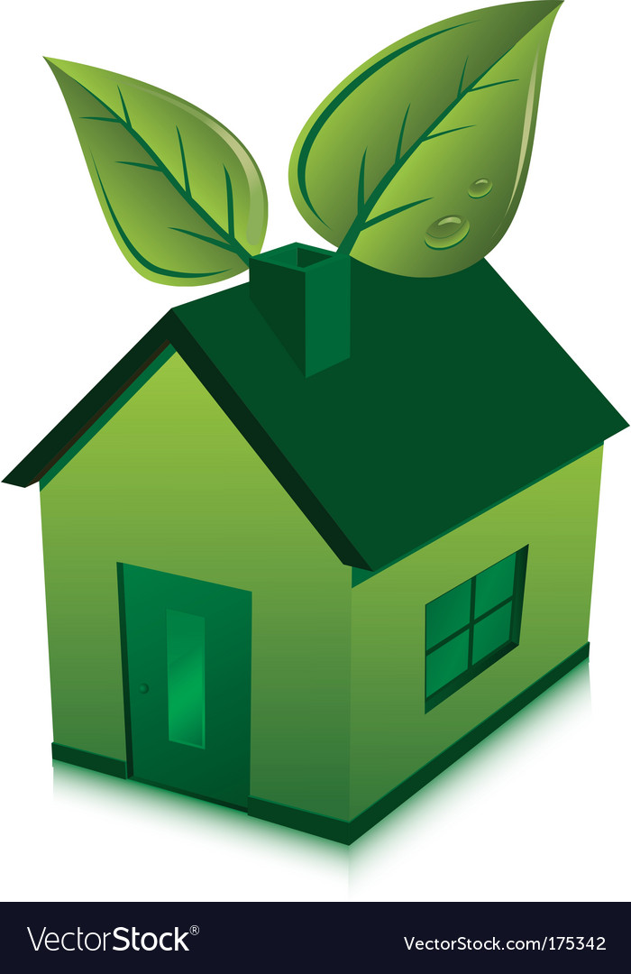 House and leaves vector | Price: 1 Credit (USD $1)