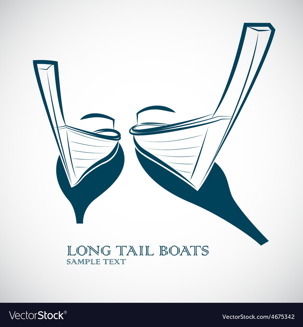 Long tail boats vector | Price: 1 Credit (USD $1)