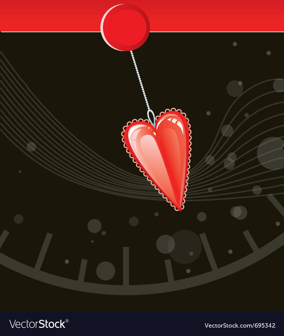 Valentine love heart vector | Price: 1 Credit (USD $1)