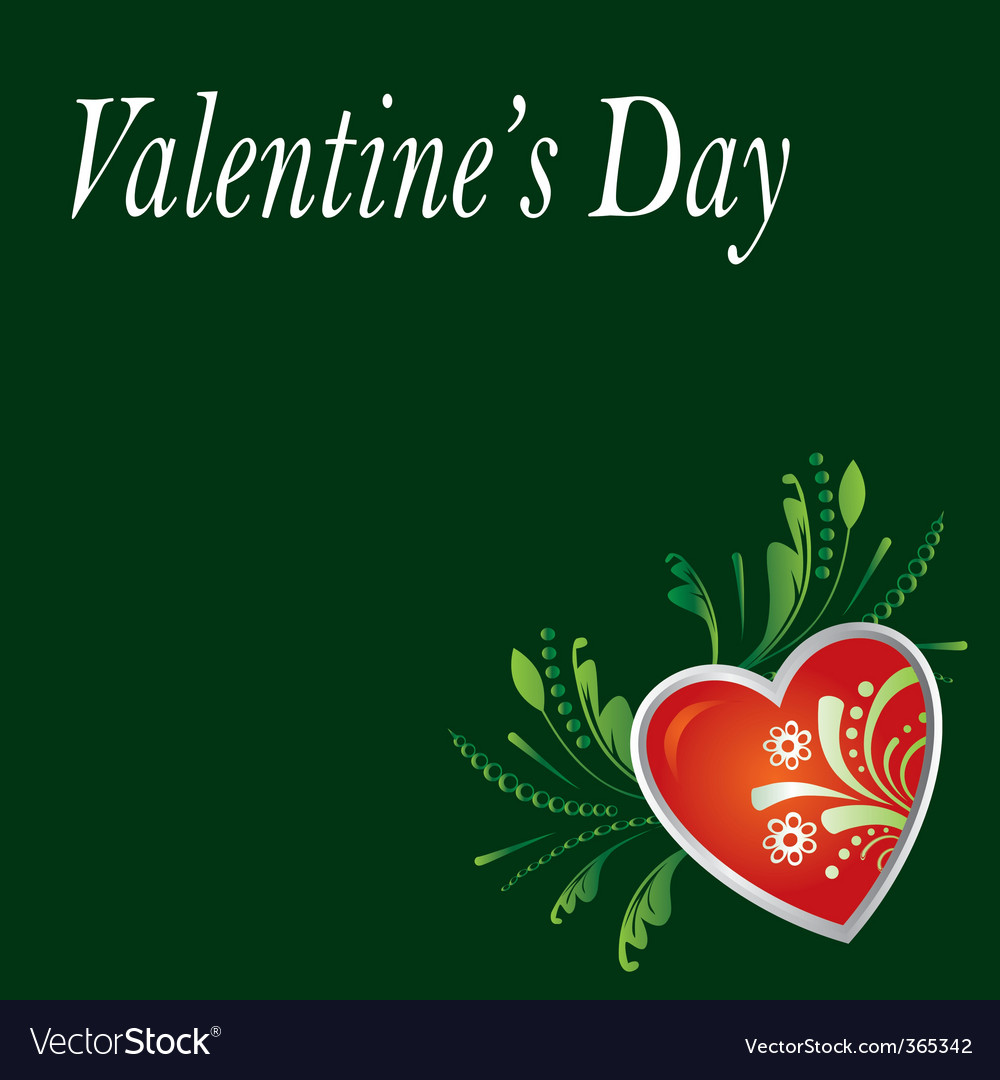 Vanlentine's day card vector | Price: 1 Credit (USD $1)